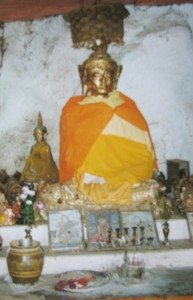Bhudda in a cave