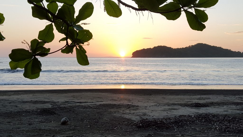 Sunset at the Coco Mango.